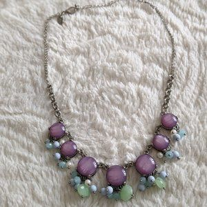 Charming Charlie Purple/Blue/Green Necklace